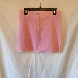 Y Generations Womens. Sz L Pink Corduroy Skirt rou
